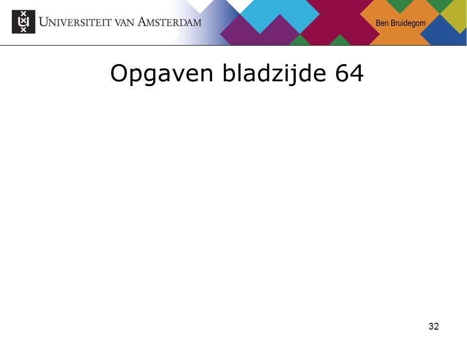 32 Opgaven bladzijde 64