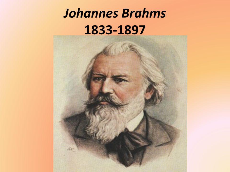 Johannes Brahms 1833-1897