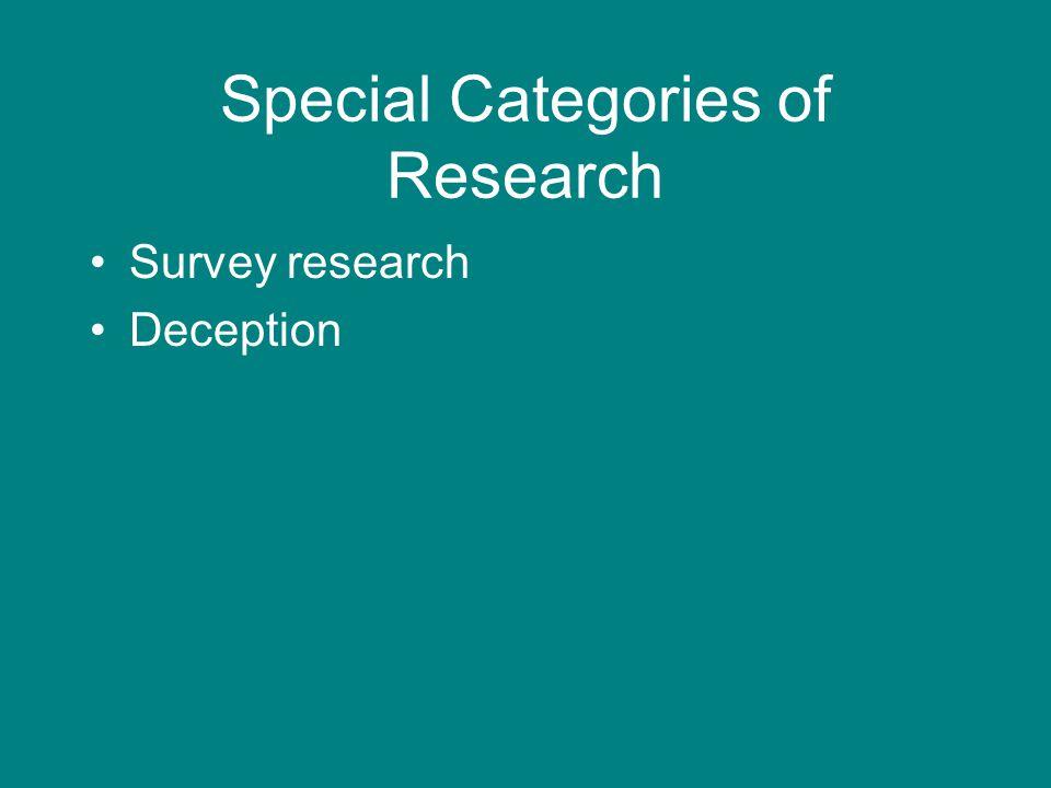 Survey research Deception