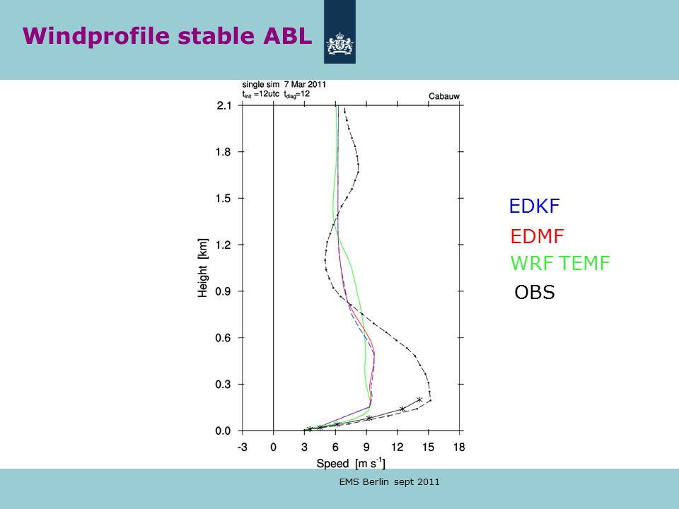 EMS Berlin sept 2011 EDKF EDMF WRF TEMF OBS Windprofile stable ABL