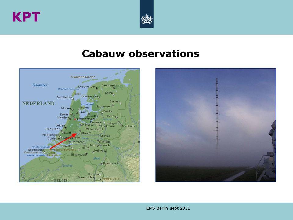 EMS Berlin sept 2011 Cabauw observations KPT
