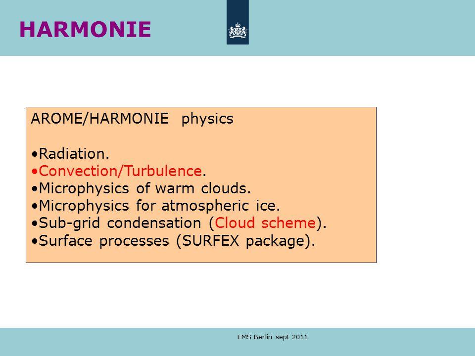 EMS Berlin sept 2011 AROME/HARMONIE physics Radiation.