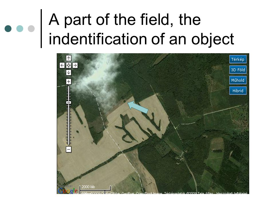 A part of the field, the indentification of an object