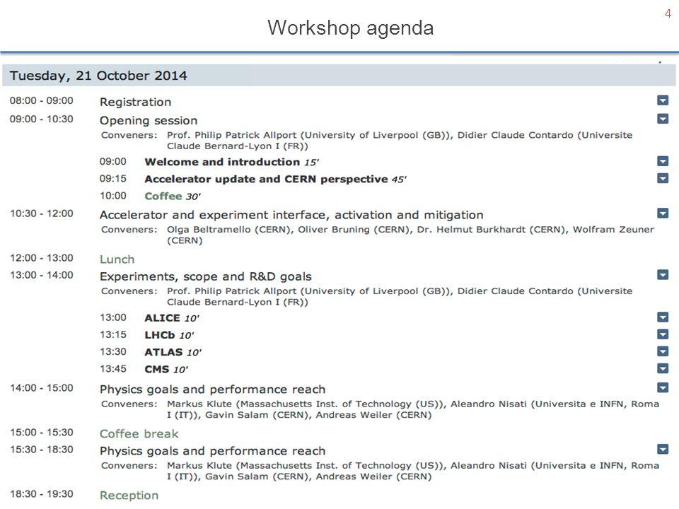 Workshop agenda 4