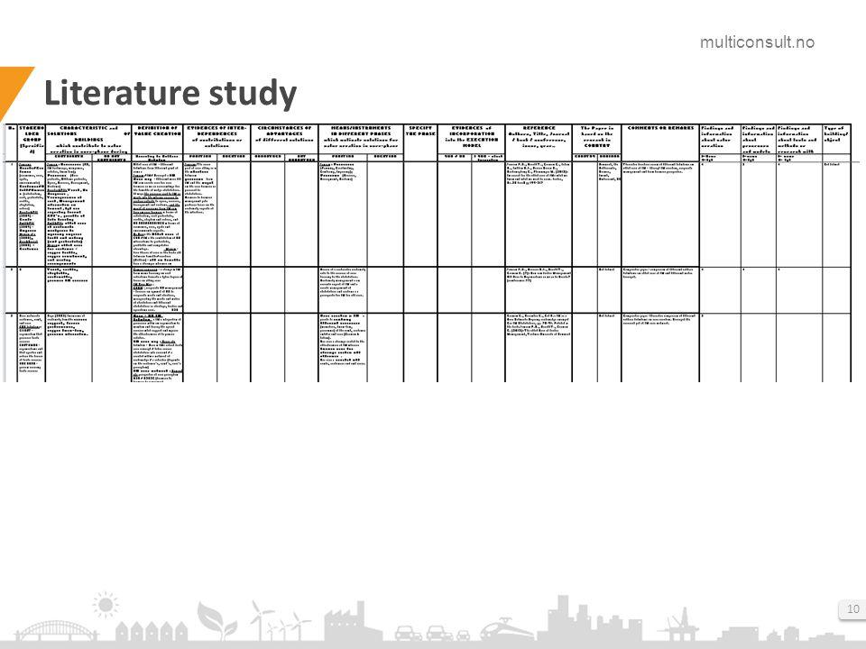 multiconsult.no 10 Literature study
