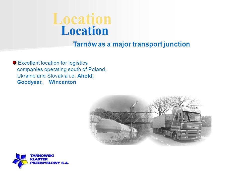Excellent location for logistics companies operating south of Poland, Ukraine and Slovakia i.e.