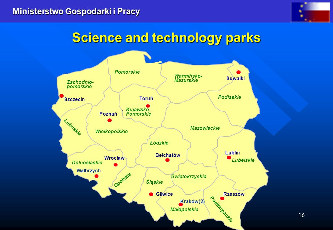 Ministerstwo Gospodarki i Pracy 16 Science and technology parks Opolskie..