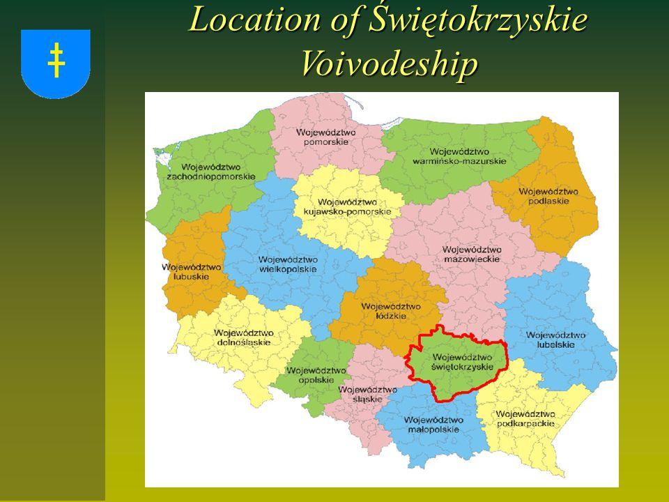 Location of Świętokrzyskie Voivodeship