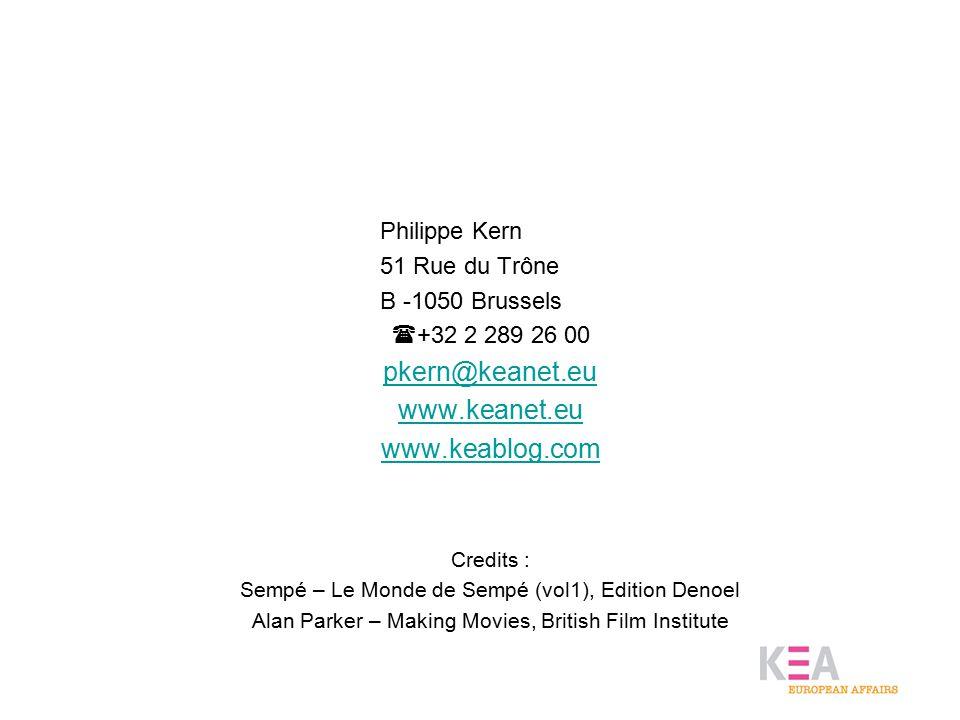 Philippe Kern 51 Rue du Trône B -1050 Brussels  +32 2 289 26 00 pkern@keanet.eu www.keanet.eu www.keablog.com Credits : Sempé – Le Monde de Sempé (vo