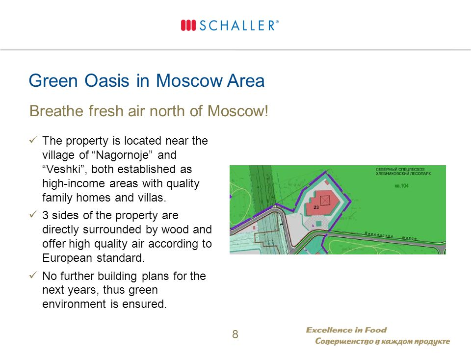 Green Oasis in Moscow Area Breathe fresh air north of Moscow.