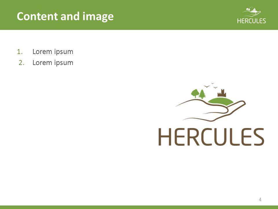 Content and image 4 1.Lorem ipsum 2.Lorem ipsum