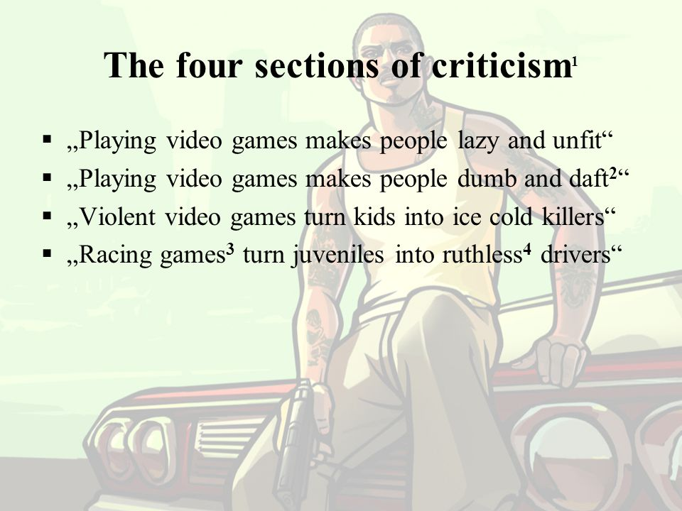 """Playing video games makes people lazy and unfit  Sports related video games sell very well."