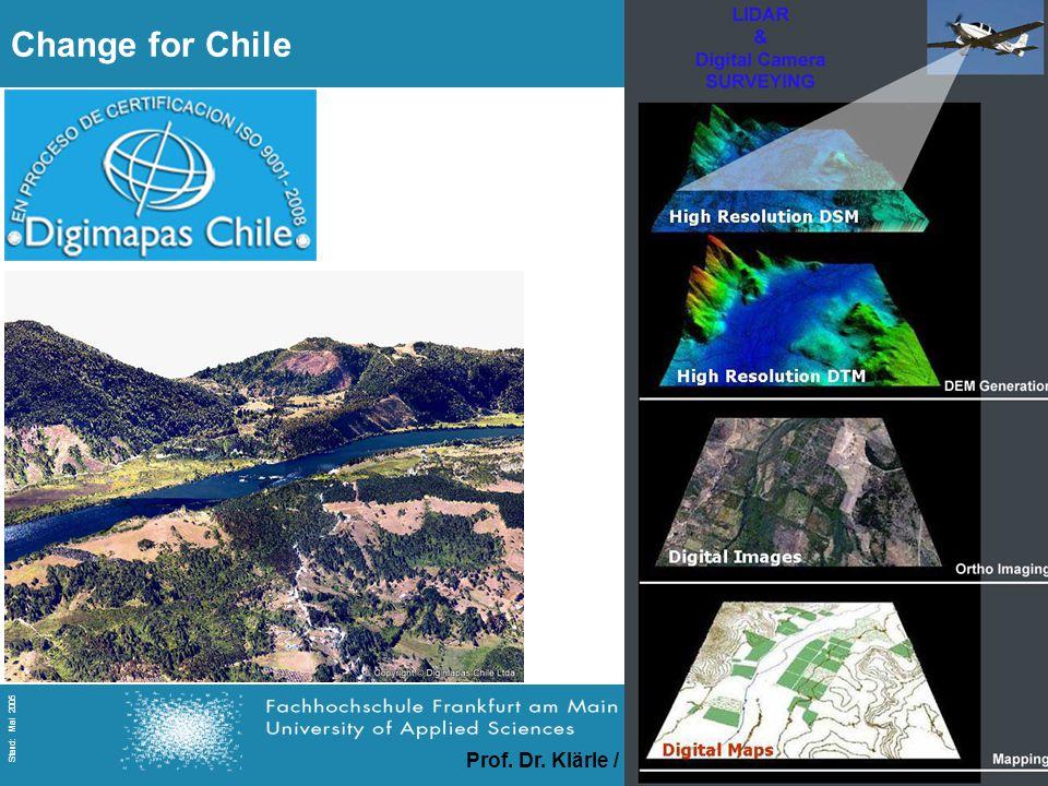 Prof. Dr. Klärle / Ludwig / Lanig / Gerds Folie 26 Stand: Mai 2005 Change for Chile