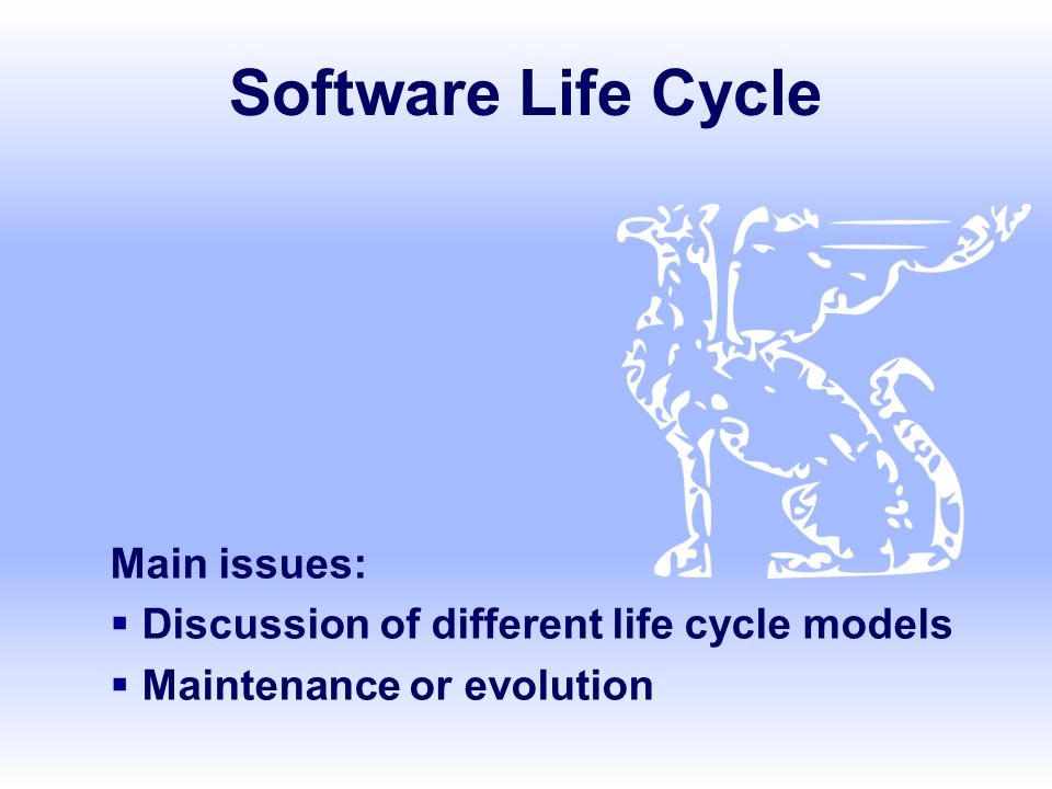 SE, Software Lifecycle, Hans van Vliet, ©2008 2 Not this life cycle