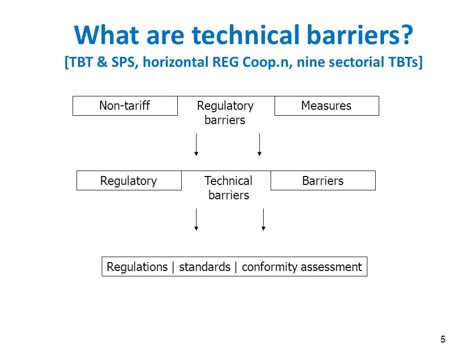 Better Regulation lowers trade costs Better Regulation principles now well-established; I discuss 10 x here, focus on risk regulation for goods (56 % of economic gains of TTIP, CEPR study 2013) ; much of this applies to services, too BR principles include : >>> (i) REGn justified by market failures - SHEIC objectives matter for removing market failures, the instruments can be many ; >>> (ii) risk-based (and not hazard based); see also (v) >>> (iii) rigorous, independent risk assessment always comes first ; i.o.w.