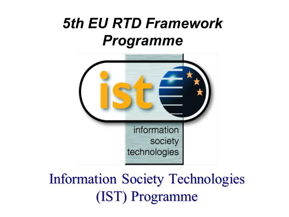 Vårt program - IST l IST - Creating a user friendly Information Society l Oppdelt i flere aktiviteter - vertikale og horisontale –Innenfor hver aktivitet - Action lines l Beskrevet i et Work Programme –revideres årlig