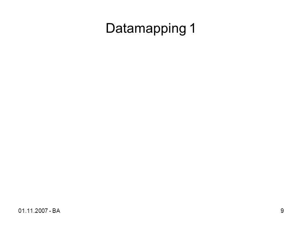 Datamapping 1 01.11.2007 - BA9
