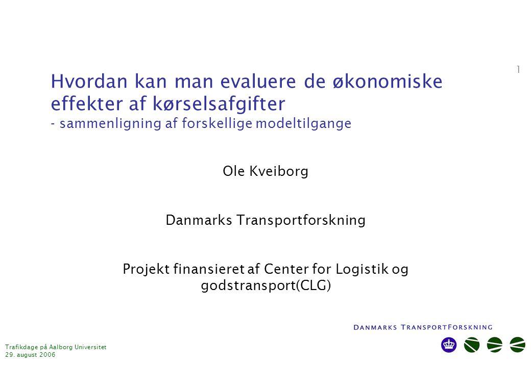 Trafikdage på Aalborg Universitet 29.