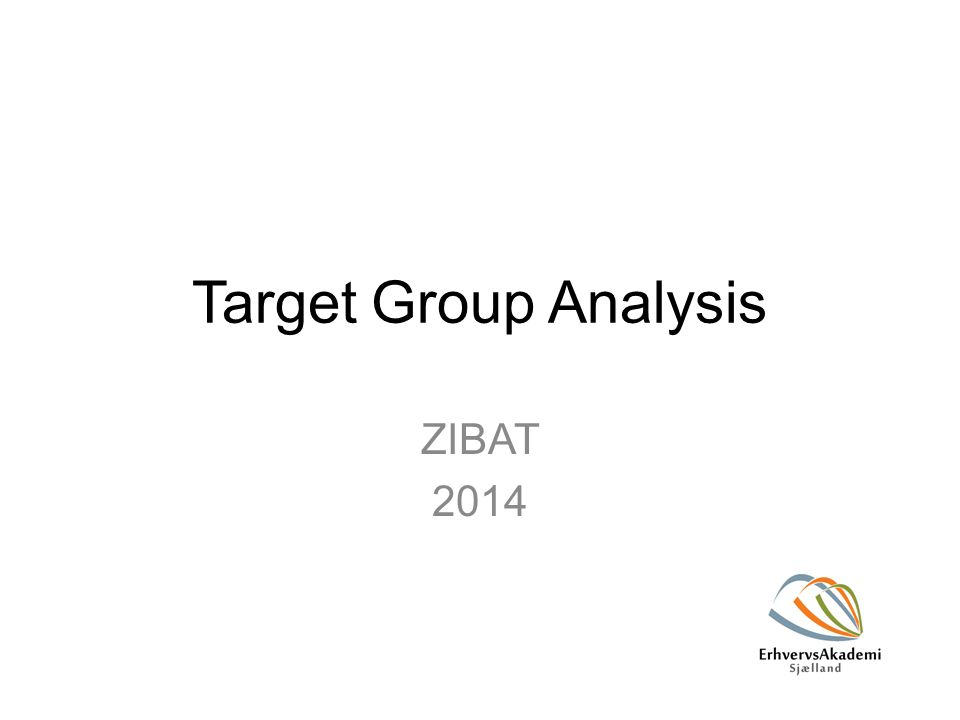 Target Group Analysis ZIBAT 2014