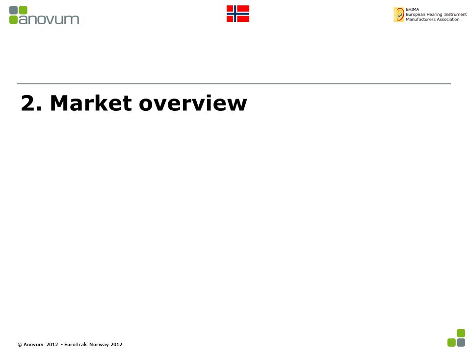 2. Market overview © Anovum 2012 - EuroTrak Norway 2012