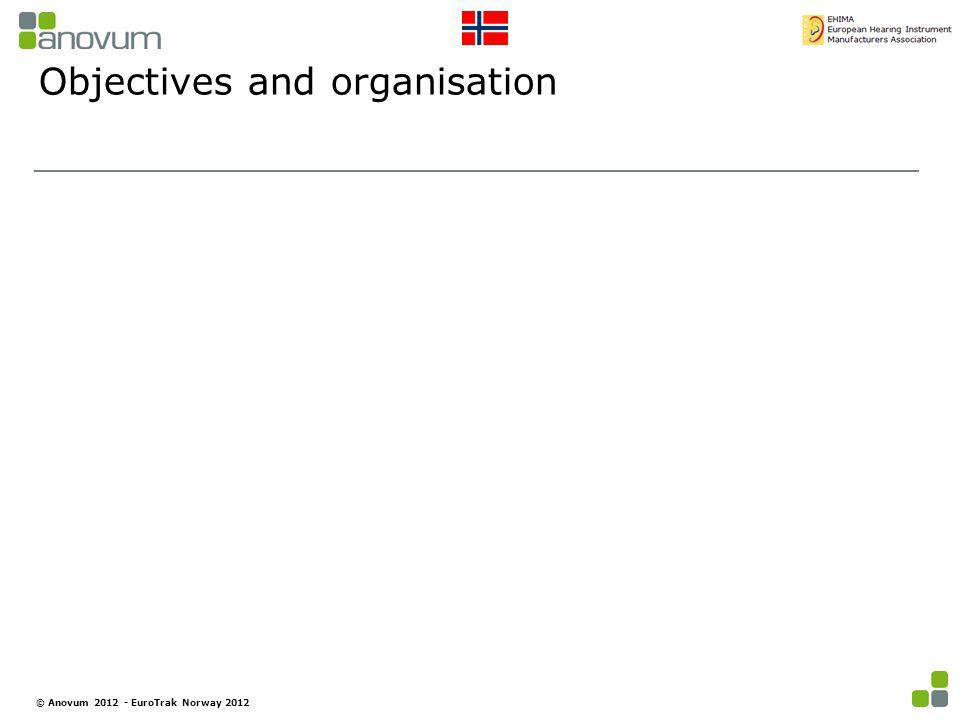 Objectives and organisation © Anovum 2012 - EuroTrak Norway 2012
