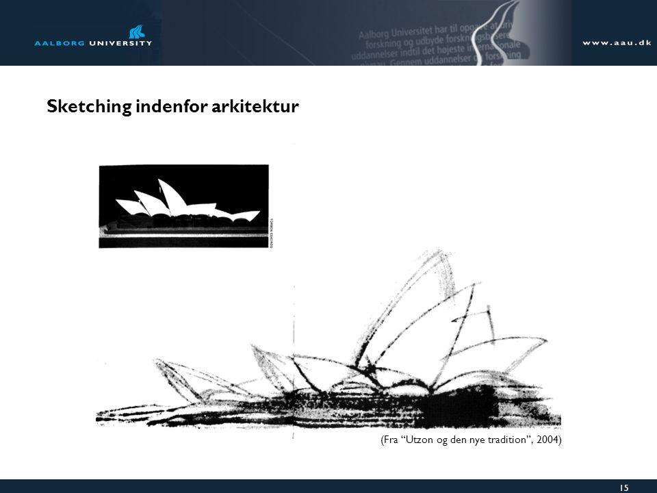 15 Sketching indenfor arkitektur (Fra Utzon og den nye tradition , 2004)
