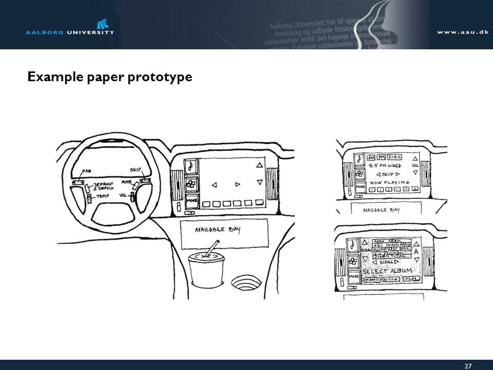 27 Example paper prototype