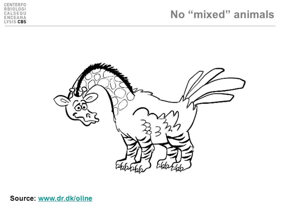No mixed animals Source: www.dr.dk/olinewww.dr.dk/oline