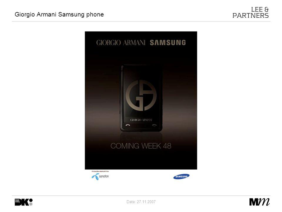 Date: 27.11.2007 Giorgio Armani Samsung phone