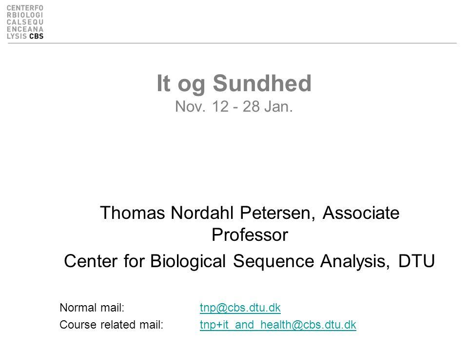 It og Sundhed Nov. 12 - 28 Jan.