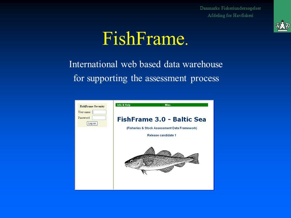 Danmarks Fiskeriundersøgelser Afdeling for Havfiskeri FishFrame.