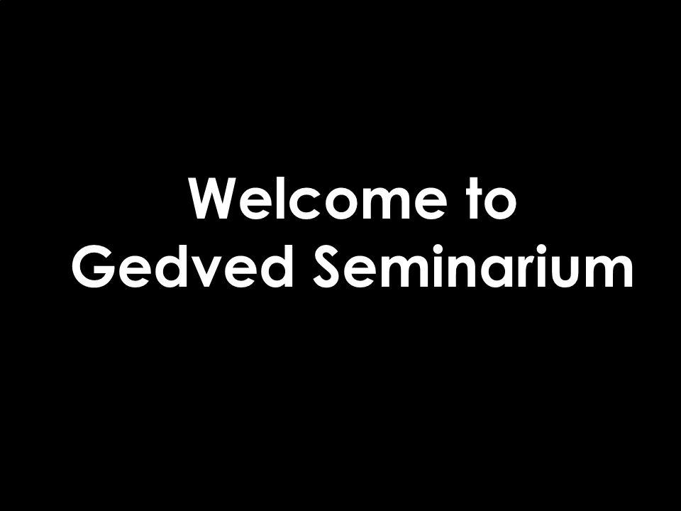 Welcome to Gedved Seminarium