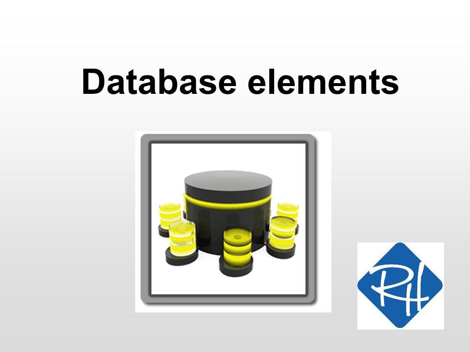 Database elements