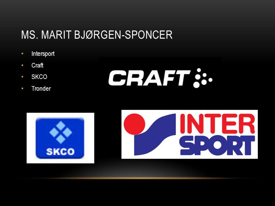 MS. MARIT BJØRGEN-SPONCER Intersport Craft SKCO Tronder
