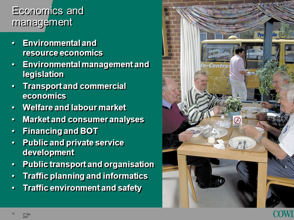 10 27 Sep. 2000 Economics and management Environmental and resource economics Environmental management and legislation Transport and commercial econom