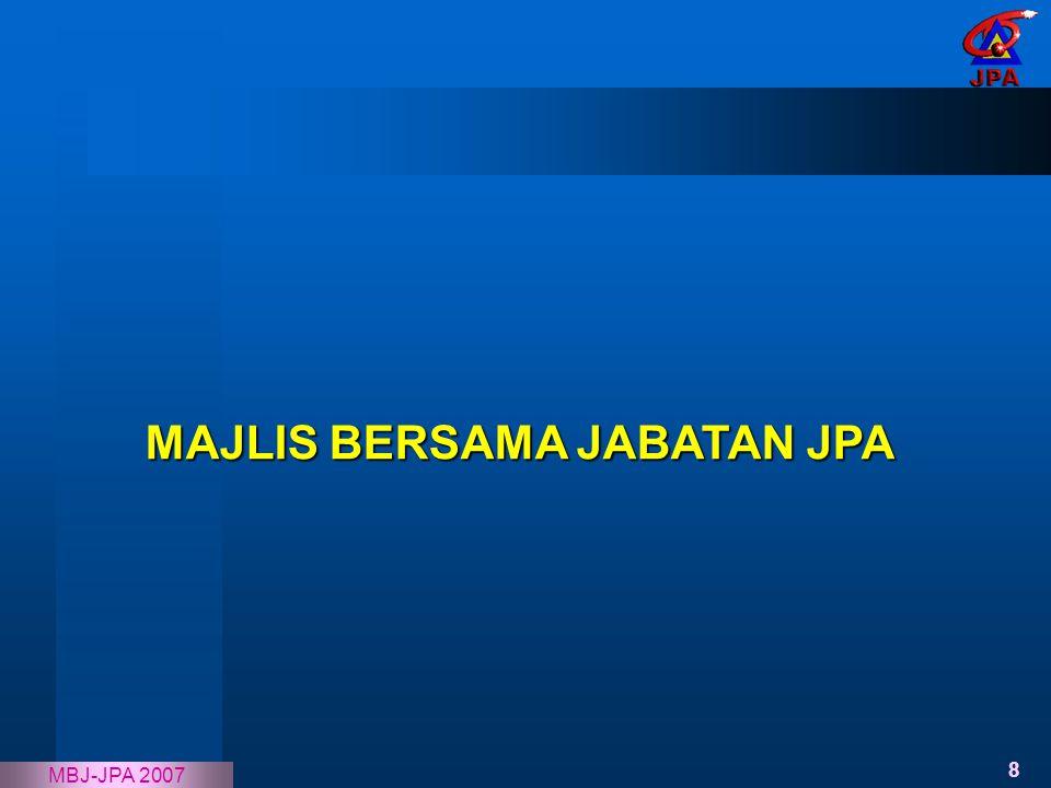 8 MBJ-JPA 2007 MAJLIS BERSAMA JABATAN JPA