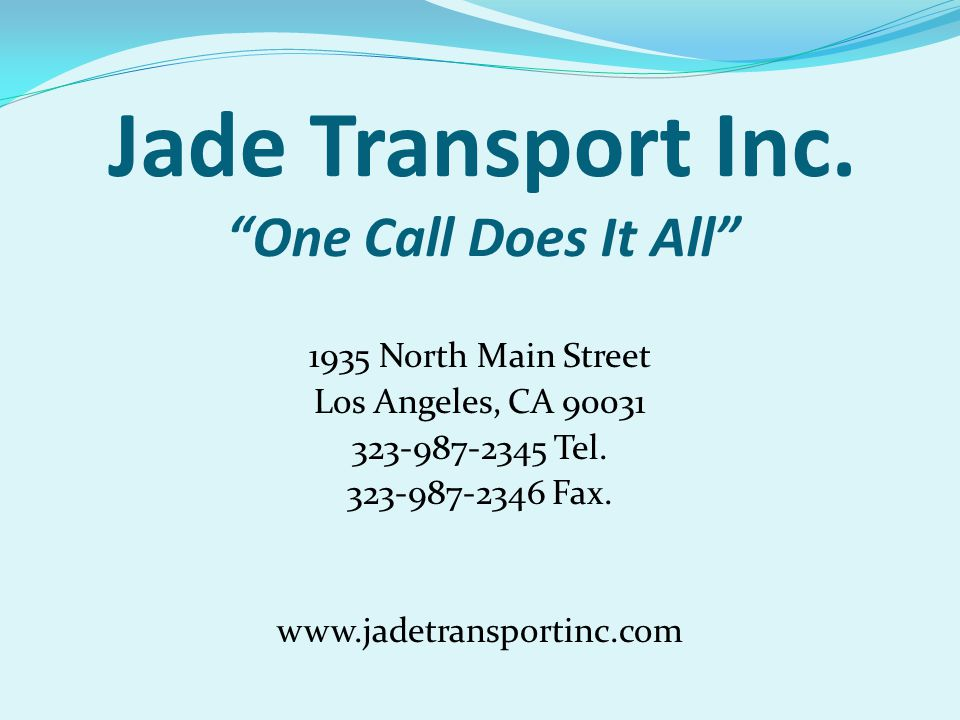 Jade Transport Inc.