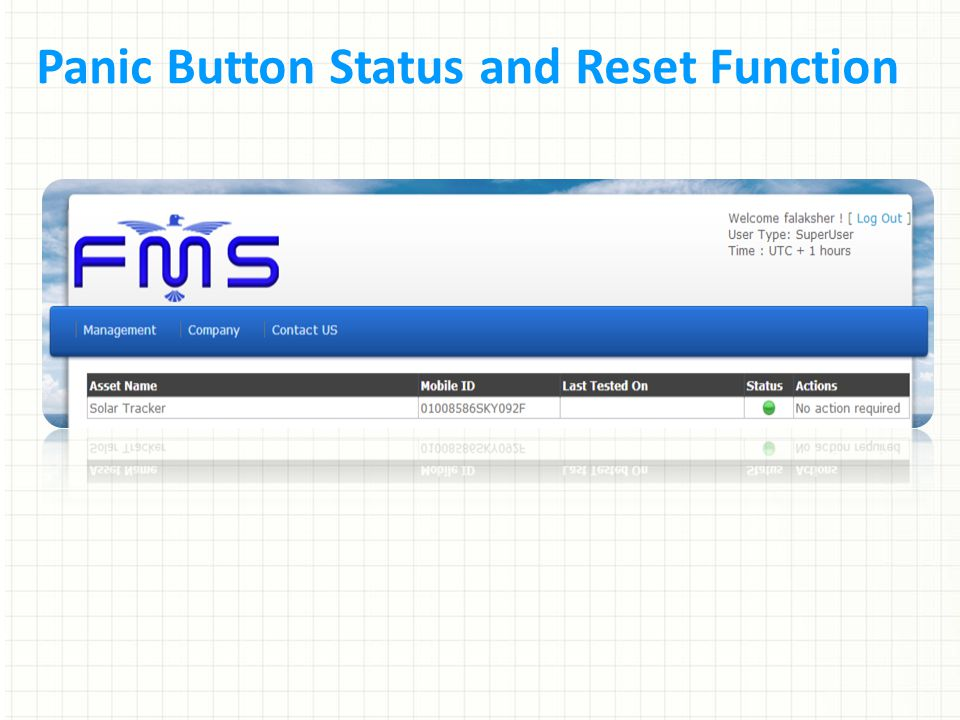 Panic Button Status and Reset Function