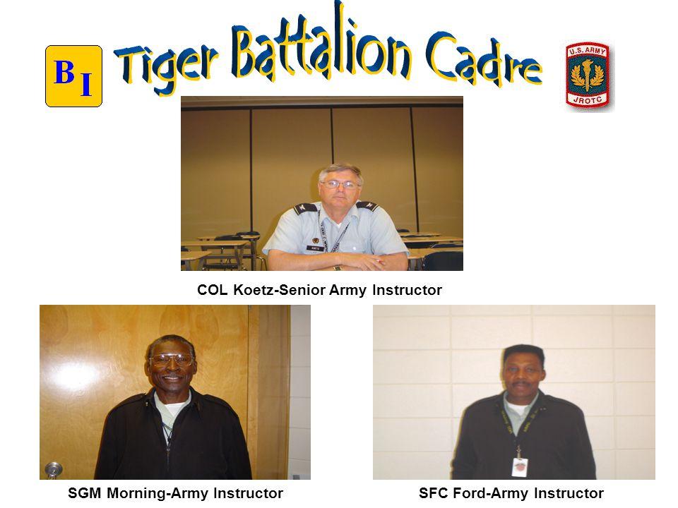 SFC Ford-Army Instructor COL Koetz-Senior Army Instructor SGM Morning-Army Instructor