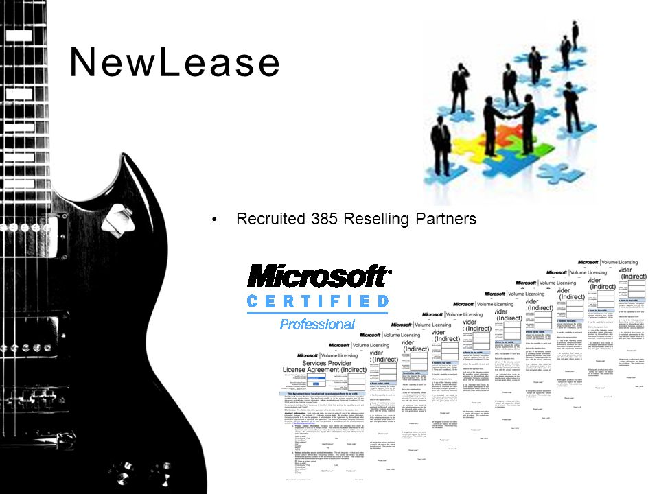 NewLease Recruited 385 Reselling Partners