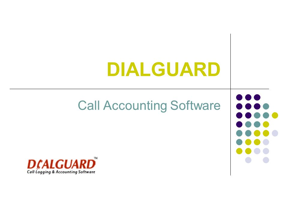 DIALGUARD Call Accounting Software