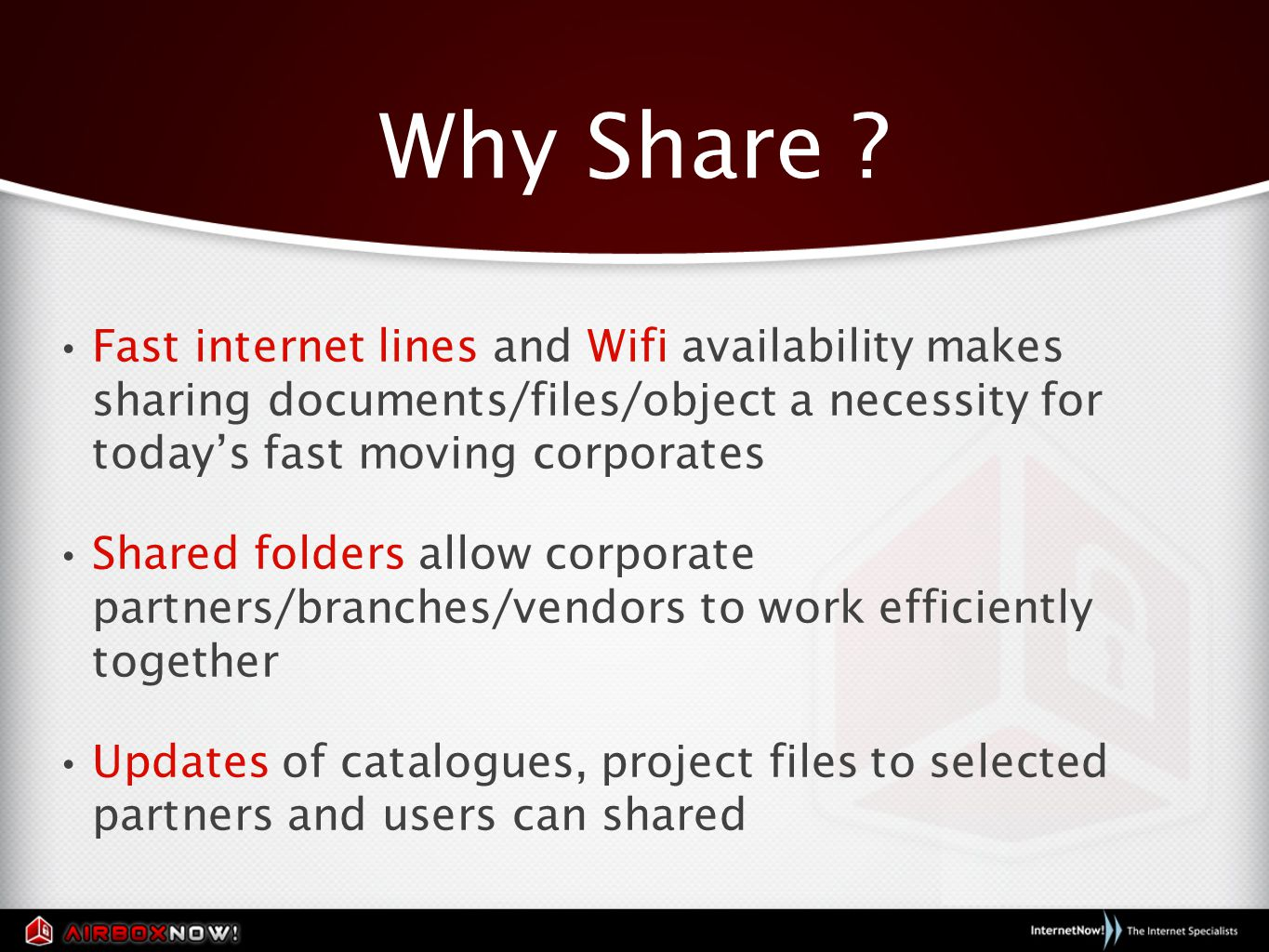 Why Share .