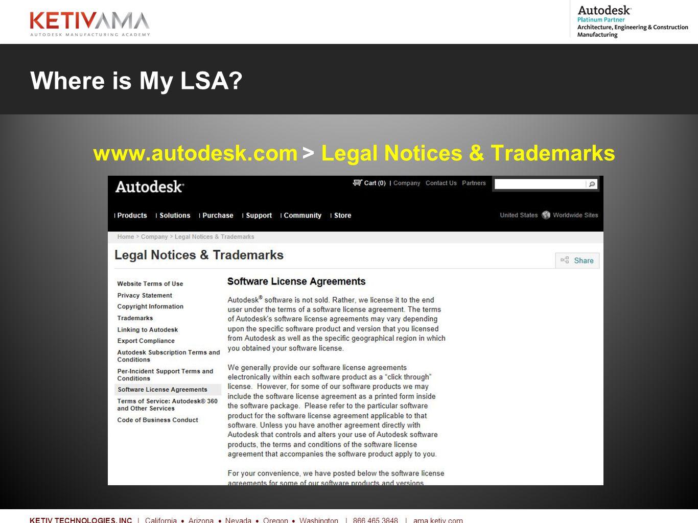 Title KETIV TECHNOLOGIES, INC | California  Arizona  Nevada  Oregon  Washington | 866.465.3848 | ama.ketiv.com Where is My LSA.