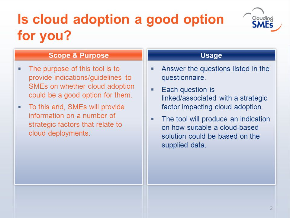Is cloud adoption a good option for you? 2