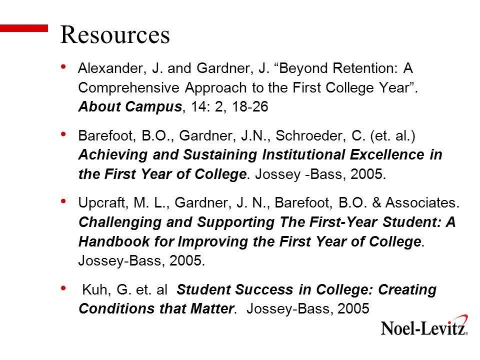 Resources Alexander, J. and Gardner, J.