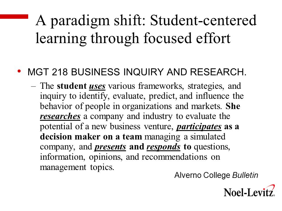 Shared responsibility for educational quality and success Educational partnerships are forged through collaboration between academic and student affairs; DEEP schools exhibit a collective responsibility for student success.