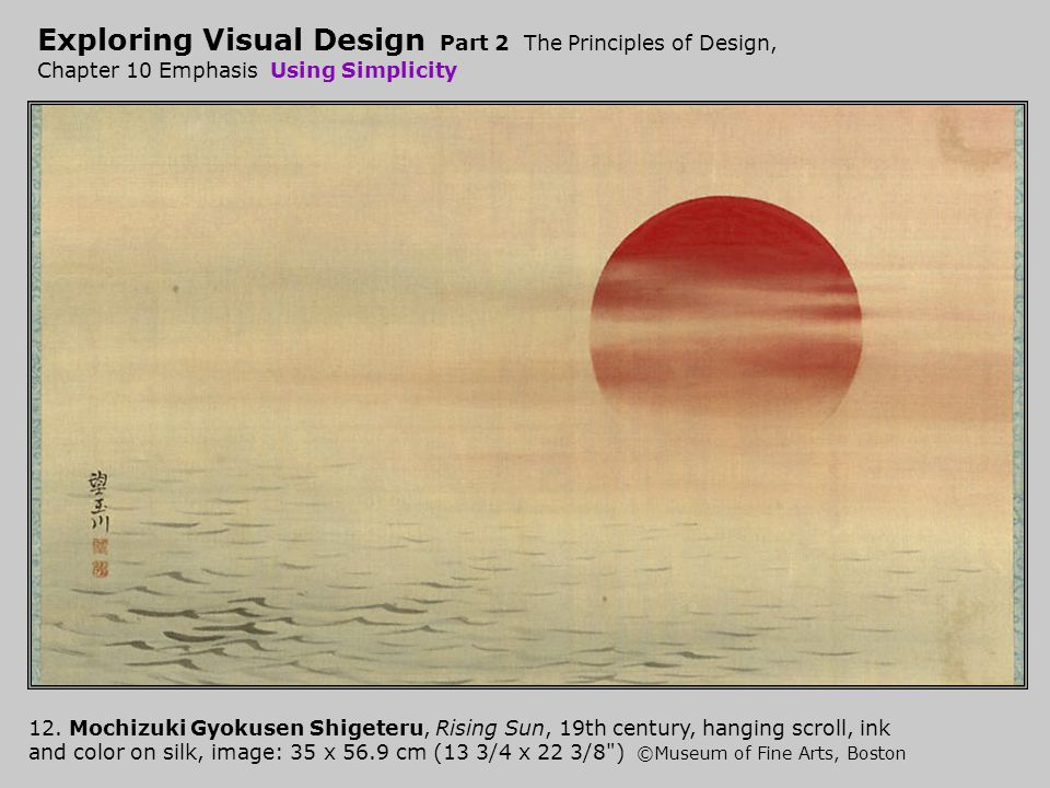 Exploring Visual Design Part 2 The Principles of Design, Chapter 10 Emphasis Using Simplicity 12.