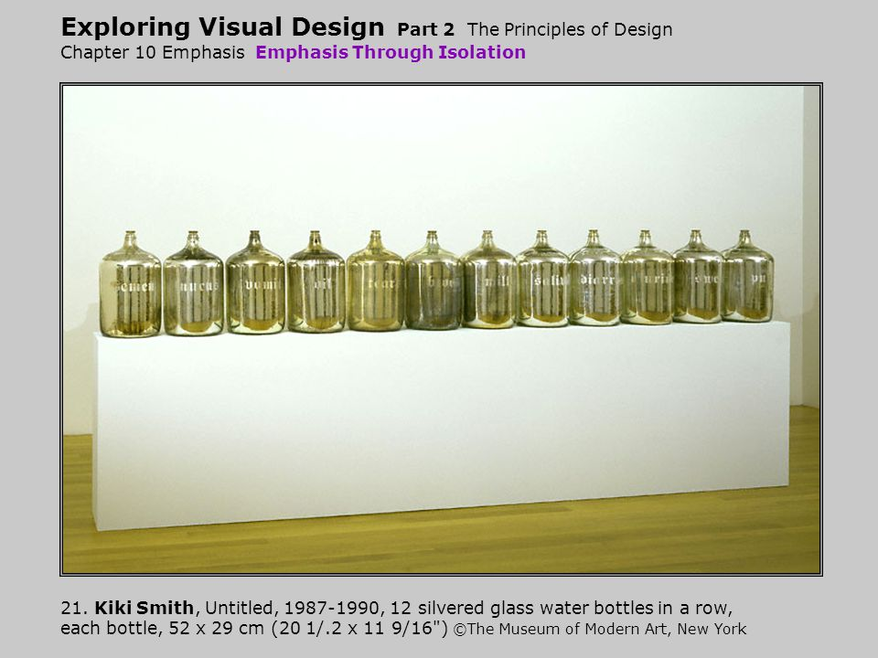 Exploring Visual Design Part 2 The Principles of Design Chapter 10 Emphasis Emphasis Through Isolation 21.