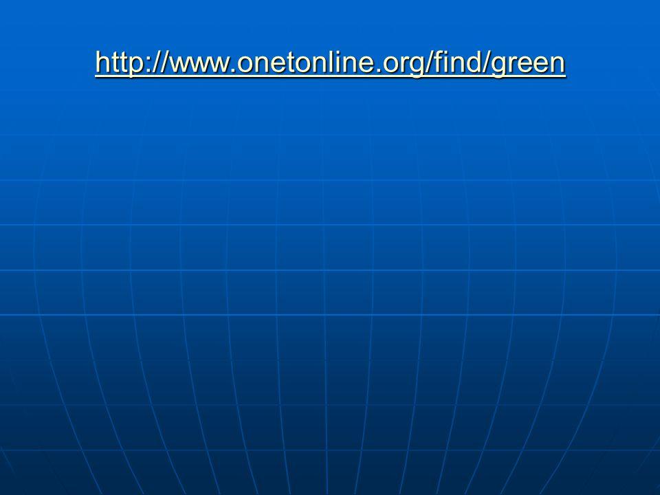 http://www.onetonline.org/find/green