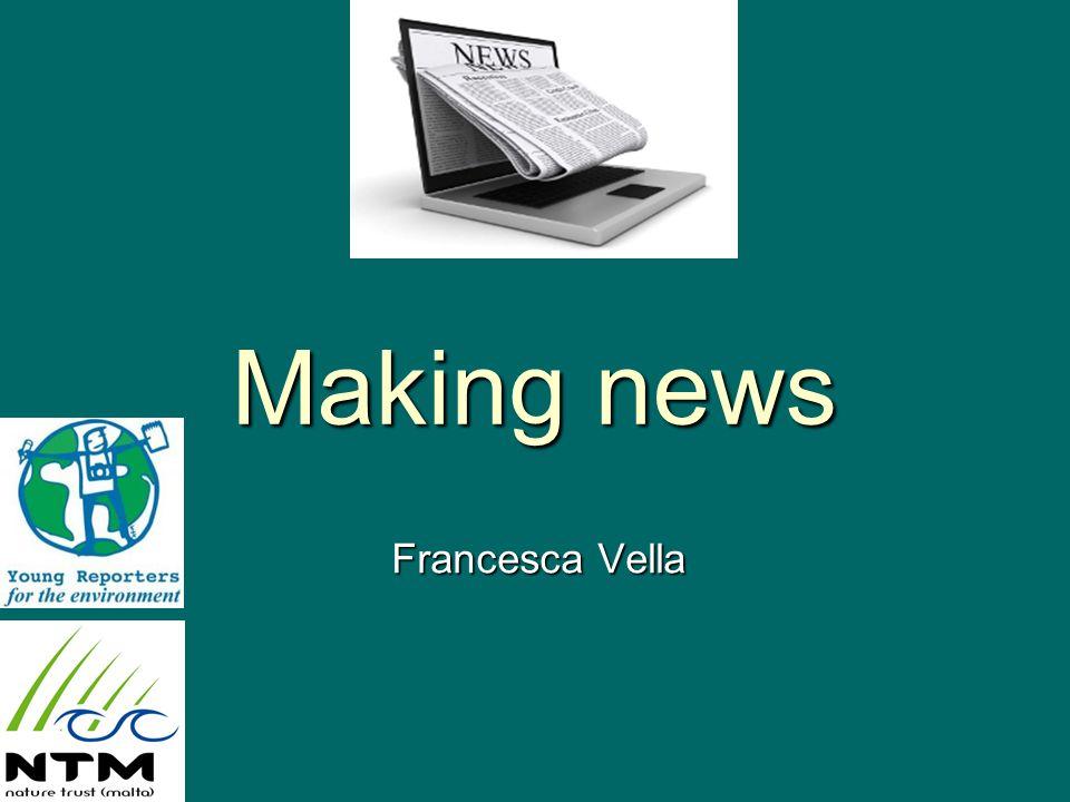 Making news Francesca Vella